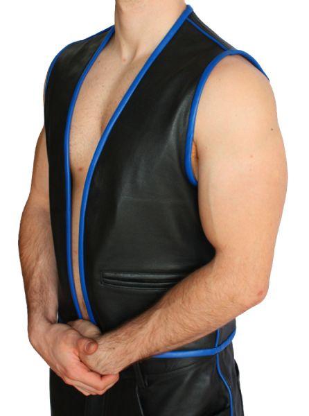 M025 Lederhemd schwarz - Maßanfertigung